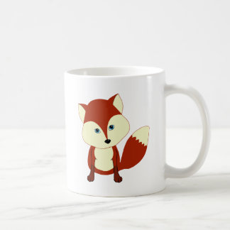 A cute red fox basic white mug