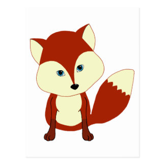 A cute red fox postcard