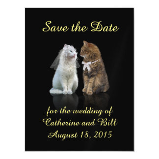 A cute Save the Date Magnet for Cat Lovers Magnetic Invitations