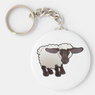 A cute sheep farm animal keychain
