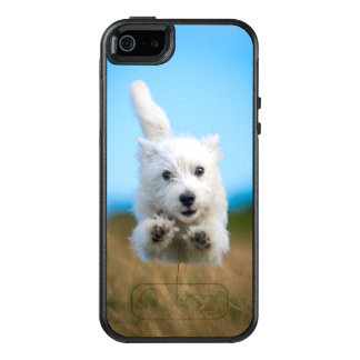 A Cute West Highland Terrier Puppy Running OtterBox iPhone 5/5s/SE Case