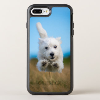 A Cute West Highland Terrier Puppy Running OtterBox Symmetry iPhone 8 Plus/7 Plus Case