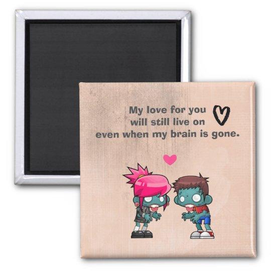 A Cute Zombie Couple Creepy Cute Magnet
