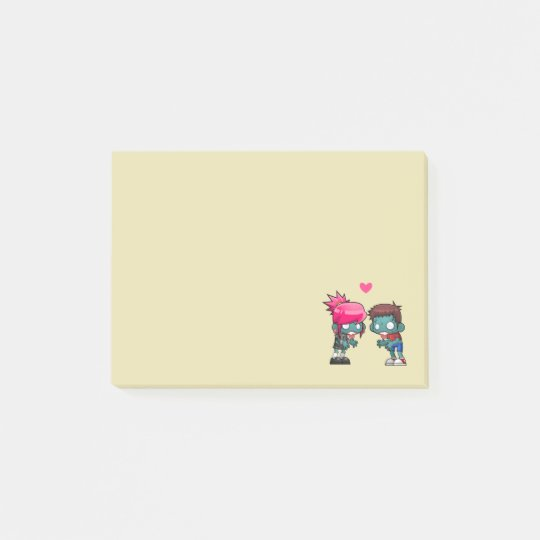 A Cute Zombie Couple Illustration Post-it Notes