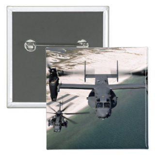 A CV-22 Osprey and an MH-53 Pave Low 15 Cm Square Badge