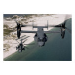 A CV-22 Osprey and an MH-53 Pave Low Poster