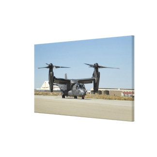 A CV-22 Osprey prepares for take-off Canvas Print