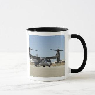 A CV-22 Osprey prepares for take-off Mug