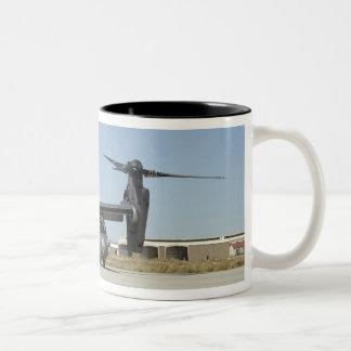 A CV-22 Osprey prepares for take-off Two-Tone Coffee Mug