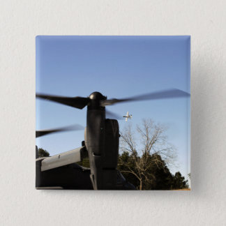 A CV-22 Osprey prepares to take off 15 Cm Square Badge