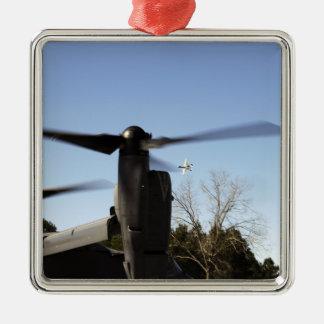 A CV-22 Osprey prepares to take off Christmas Ornament