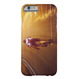 A cyclist on road bike near Great Salt Lake Barely There iPhone 6 Case
