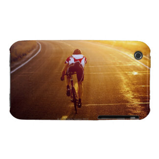 A cyclist on road bike near Great Salt Lake Case-Mate iPhone 3 Cases