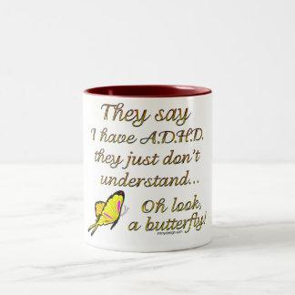 A D H D Butterfly Humor Coffee Mug