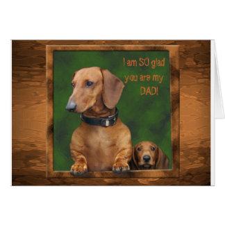 A dachshund Father's Day Card