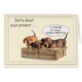 A Dachsund Birthday Greeting Cards