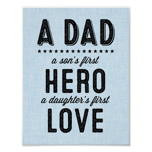A Dad Typography Print