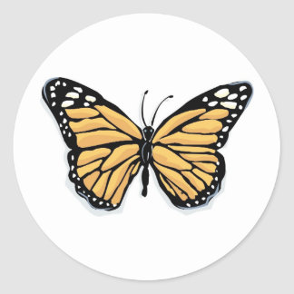 A Dainty Monarch Butterfly Classic Round Sticker