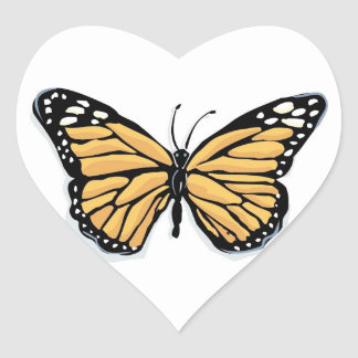 A Dainty Monarch Butterfly Wedding Hearts Heart Sticker