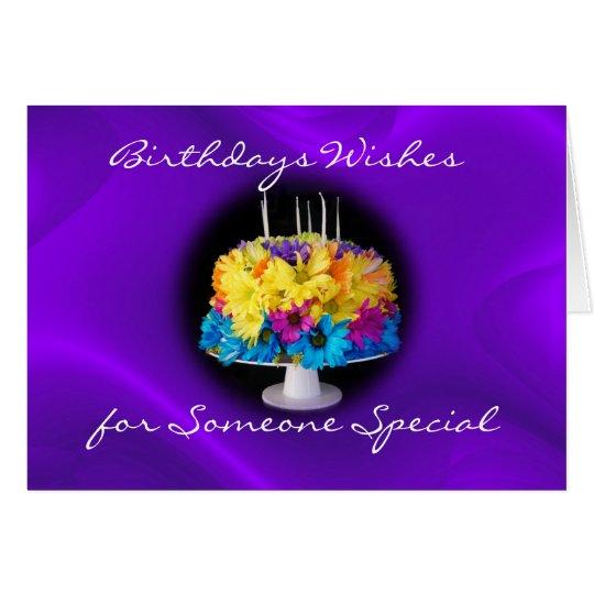 A Daisy Birthday Cake card- customise Card