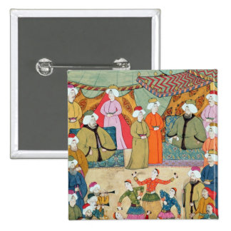 A Dance for the Pleasure of Sultan Ahmet III 15 Cm Square Badge