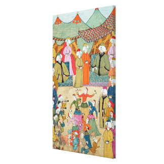 A Dance for the Pleasure of Sultan Ahmet III Gallery Wrap Canvas