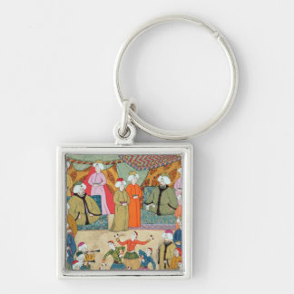 A Dance for the Pleasure of Sultan Ahmet III Silver-Colored Square Key Ring