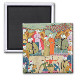 A Dance for the Pleasure of Sultan Ahmet III Square Magnet