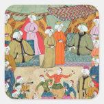 A Dance for the Pleasure of Sultan Ahmet III Square Sticker