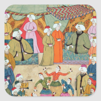 A Dance for the Pleasure of Sultan Ahmet III Square Sticker