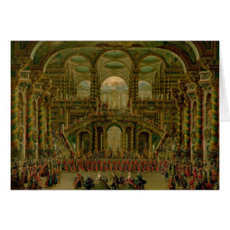 A Dance in a Baroque Rococo Palace Card