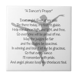 A Dancer's Prayer Small Square Tile