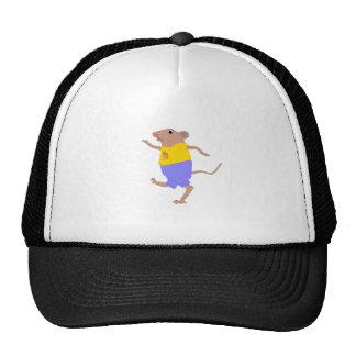 A dancing cartoon mouse. cap
