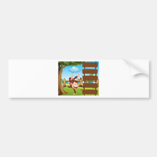 A dancing monkey bumper sticker
