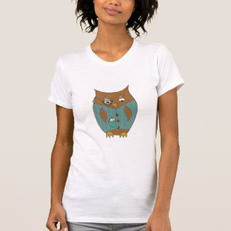 A dandy owl in waistcoat and monocle t-shirt