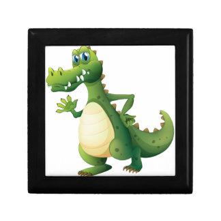 A dangerous crocodile small square gift box