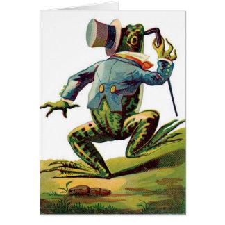 A Dapper Frog, Card