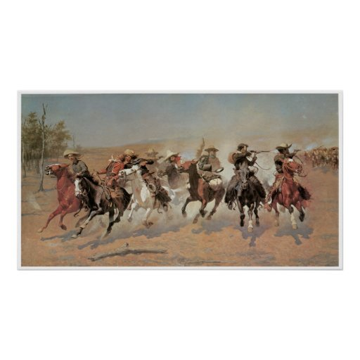 A Dash for the Timber, 1889 Frederic Remington Poster