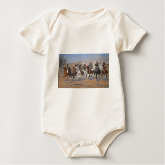A Dash for the Timber by Frederic Remington Baby Bodysuit