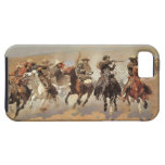 A Dash For Timber by Frederic Remington, Cowboys iPhone 5 Covers