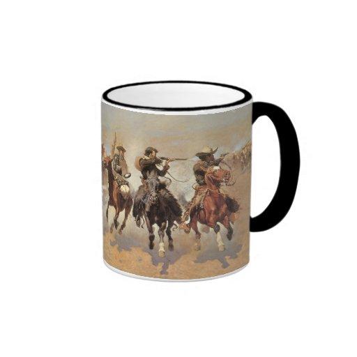 A Dash For Timber by Frederic Remington, Cowboys Coffee Mug