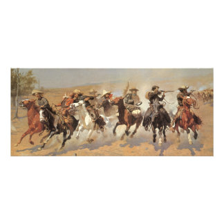 A Dash For Timber by Remington, Vintage Cowboys Custom Invitations