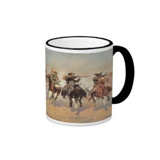 A Dash For Timber by Remington, Vintage Cowboys Coffee Mug