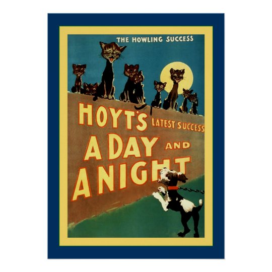A Day and a Night ~ Vintage Theatre Poster