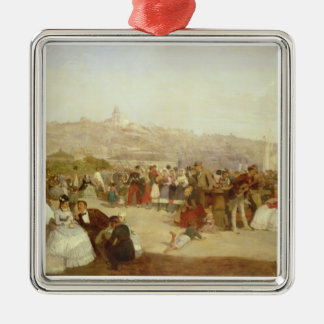 A Day at Boulogne, 1870 (oil on canvas) Christmas Ornament