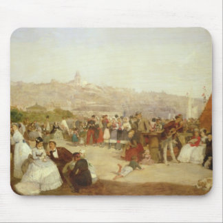 A Day at Boulogne, 1870 (oil on canvas) Mouse Mat