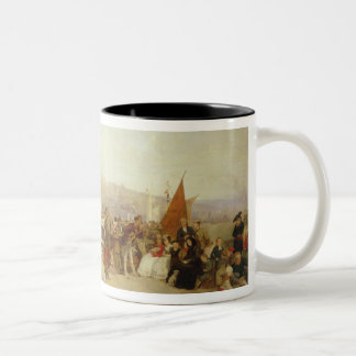 A Day at Boulogne, 1870 (oil on canvas) Two-Tone Coffee Mug