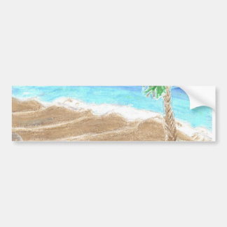 A Day At The Beach Bumper Sticker