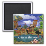 A Day at the Beach Fridge Magnet
