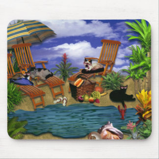 A Day at the Beach Mouse Mat